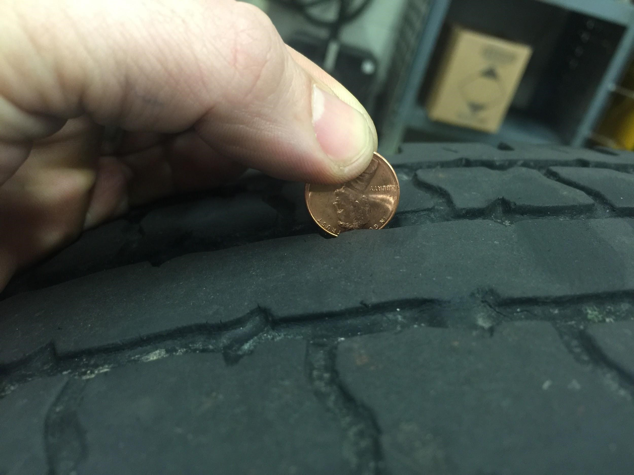 Tire wear penny trick